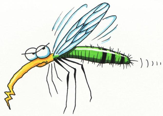 Испуганный комар