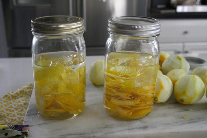 Настойка на лимонных корках
