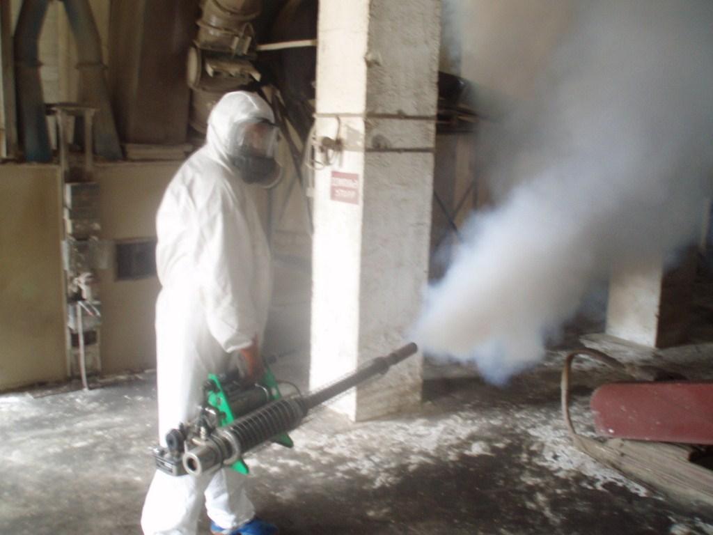 Обработка горячим туманом производственного помещения